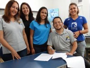 Da esquerda para a direita: Renata Bhering (IPRAM), Tainan Oliveira (IEMA), Laila Medeiros (IPRAM), Luis Felipe Mayorga (IPRAM) e Juliana Yuri Savioli (Projeto Albatroz).