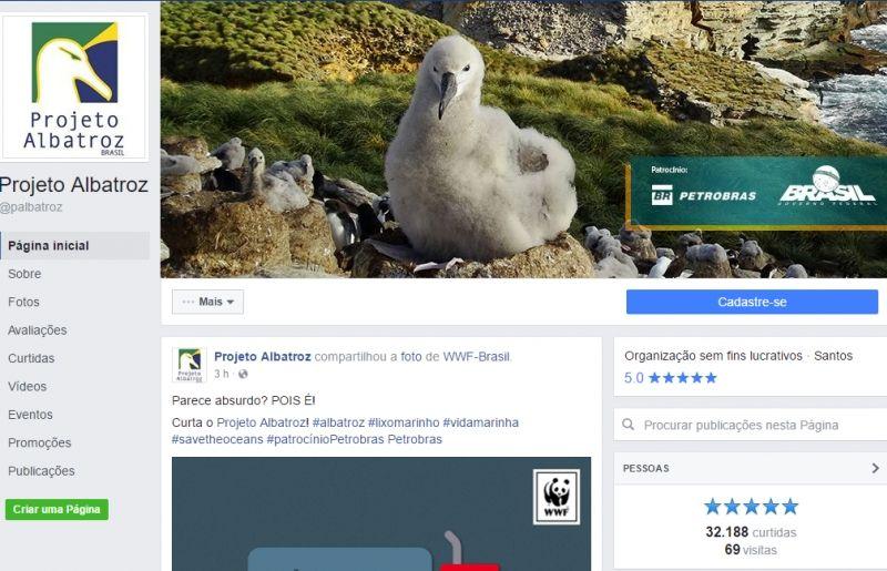 Mídias sociais do Projeto Albatroz contribuem para a divulgação do trabalho