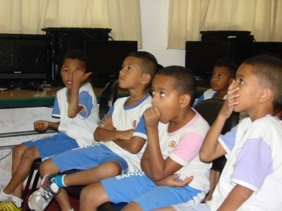 Alunos da escola José Carlos de Azevedo Júnior