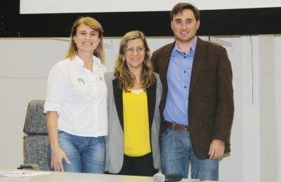 Tatiana Neves, do Projeto Albatroz; Dra. Mary Gasalla, da USP e Rodrigo dos Santos, do MPA