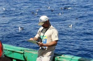 Dimas Gianuca, observador de bordo do Projeto Albatroz