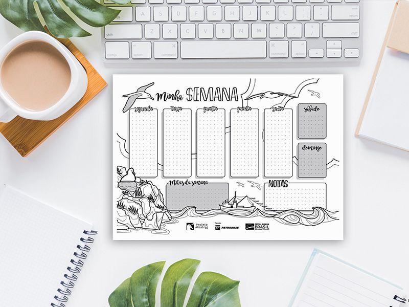 Organize sua rotina com os planners customizáveis do Projeto Albatroz