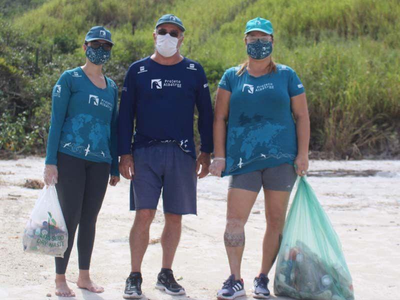 Projeto Albatroz participa de clean-up em Cabo Frio em comemoração à Semana Nacional de Limpeza dos Mares